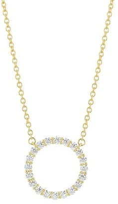 Hearts On Fire 18K Yellow Gold & Diamond Circle Pendant Necklace