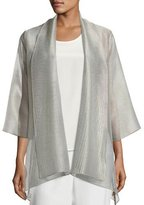 Caroline Rose Elegant Sheer Mesh Jacket, Plus Size