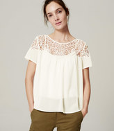 LOFT Lacy Sheer Blouse