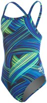 Speedo Youth Endurance+ Turbo Stroke Drop Back One Piece Swimsuit 8146367