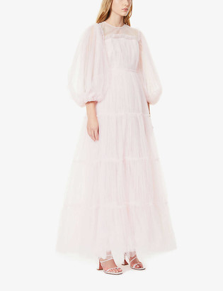 Huishan Zhang Tallulah ruffle-trimmed tulle gown