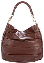 Christian Dior Pleated Leather Hobo