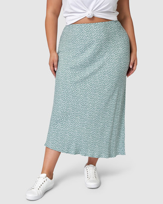 Something 4 Olivia - Women's Green Pencil skirts - Karina Print Midi Skirt - Size One Size, 16 at The Iconic