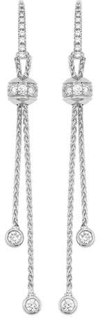 Piaget Possession Palm Chain Earrings with Diamonds in 18K White Gold