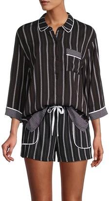 DKNY 2-Piece Striped Boxer Pajama Set