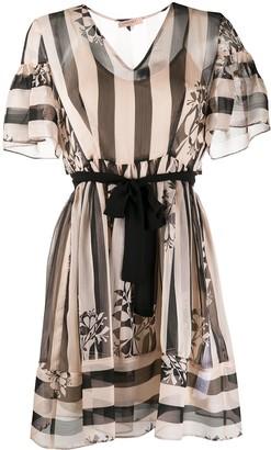 Twin-Set Twin Set floral stripe dress