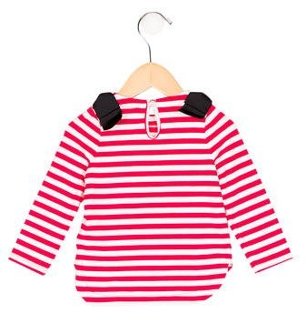 Kate Spade Girls' Striped Bow-Accented Top