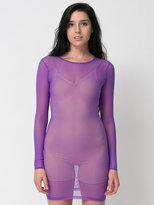 American Apparel Nylon Spandex Micro-Mesh Long Sleeve Mini Dress