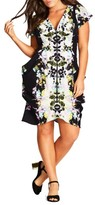 City Chic Plus Size Women's Zip Front Fit & Flare Dress