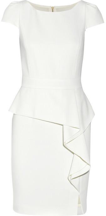 Emilio Pucci Stretch-wool crepe peplum mini dress