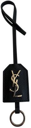 Saint Laurent Monogramme Black Leather Bag charms