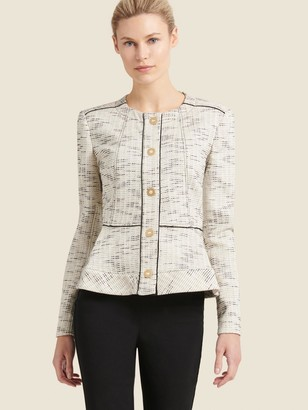 DKNY Collarless Button-up Jacket