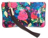 Brian Atwood Printed Satin Clutch