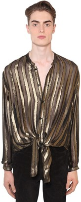 Saint Laurent OVERSIZE VISCOSE & SILK DEVORE SHIRT