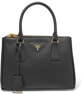 Prada Galleria Mini Textured-leather Tote - Black