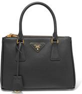 Prada Galleria Mini Textured-leather Tote - Black