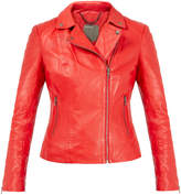 Muu Baa Muubaa Mosman Red Leather Biker Jacket