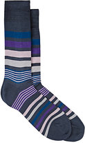 Paul Smith Men's Joni Striped Mid-Calf Socks