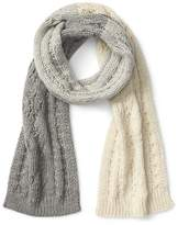 Gap Cable knit colorblock scarf