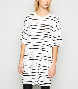 New Look Noisy May Stripe Oversized T-Shirt