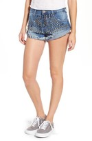 One Teaspoon Women's Bandits Studded Denim Shorts