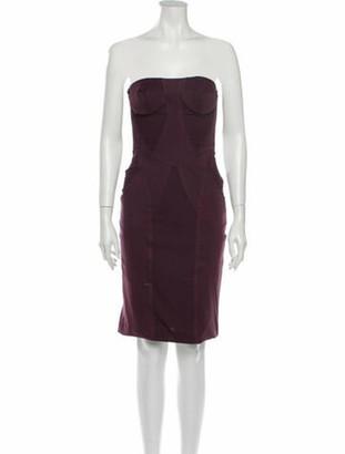 Stella McCartney Strapless Mini Dress Purple
