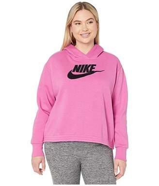 Nike Plus Size NSW Icon Clash Fleece Hoodie (Black) Women's Sweatshirt