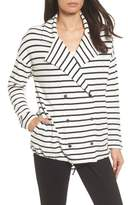 Caslon Stripe Knit Drawsting Jacket