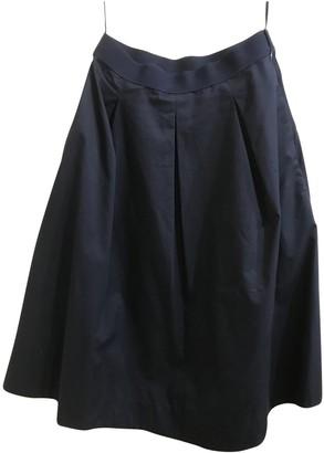 Cos Navy Cotton Skirt for Women