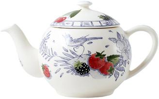 Gien Oiseau Teapot - White