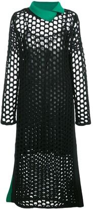 3.1 Phillip Lim Open-Knit Midi Dress