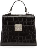 Mario Valentino Valentino By Cleo Croc-Embossed Top Handle Bag