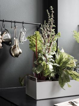 ferm LIVING Small Light Grey Metal Plant Box - small   metal   light grey - Light grey