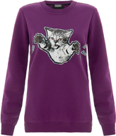Markus Lupfer Claws Out Purple Sweatshirt