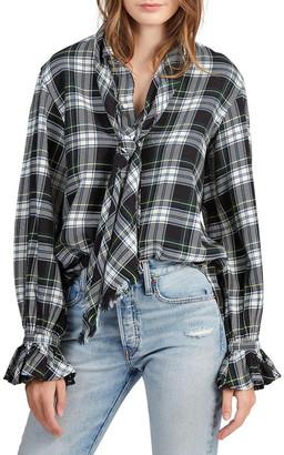 Polo Ralph Lauren Plaid Necktie Cotton Shirt