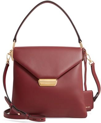 Prada New Calfskin Leather Envelope Shoulder Bag