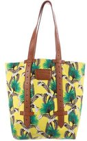 Proenza Schouler Printed Leather-Trimmed Tote