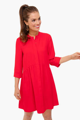 Tuckernuck Red Silk Royal Shirt Dress