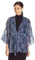 Show Me Your Mumu Women's Freedom Fringe Burnout Kimono