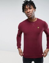 Lyle & Scott Textured Herringbone Crew Neck Sweatshirt