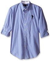 U.S. Polo Assn. Men's Long Sleeve Gingham Plaid Sport Shirt