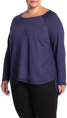 Cyrus Long Sleeve Step Hem Pullover Sweater (Plus Size)