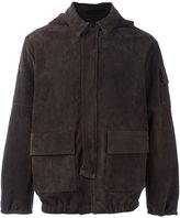 Road To Awe - hooded suede jacket - men - Lamb Skin/Polyester/Spandex/Elastane - M