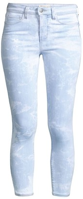 L'Agence Margot High-Rise Crop Skinny Tie Dye Jeans