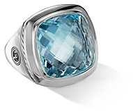 David Yurman Albion Statement Ring with Blue Topaz & Sterling Silver