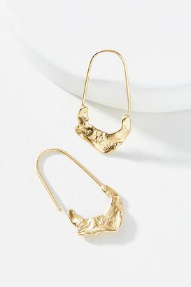 Anthropologie Cresent Hoop Earrings By in Gold