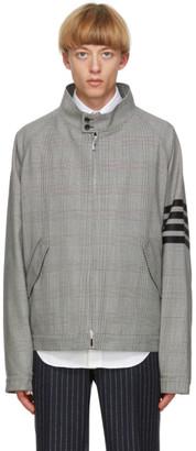 Thom Browne Black and White Wool 4-Bar Jacket
