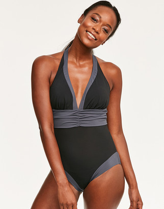 Figleaves Edge Colourblock Shaping Swimsuit - Longer Length