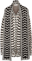 Temperley London Gabriele jacquard-knit merino wool cape