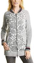 Cecil Women's Long Bomber Jacket Cardigan